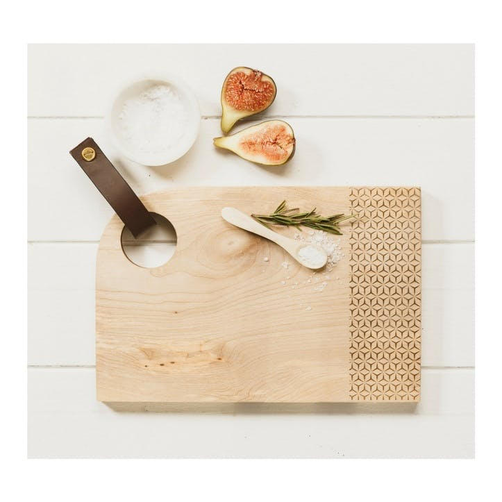 Curved Geo Print Serving Board