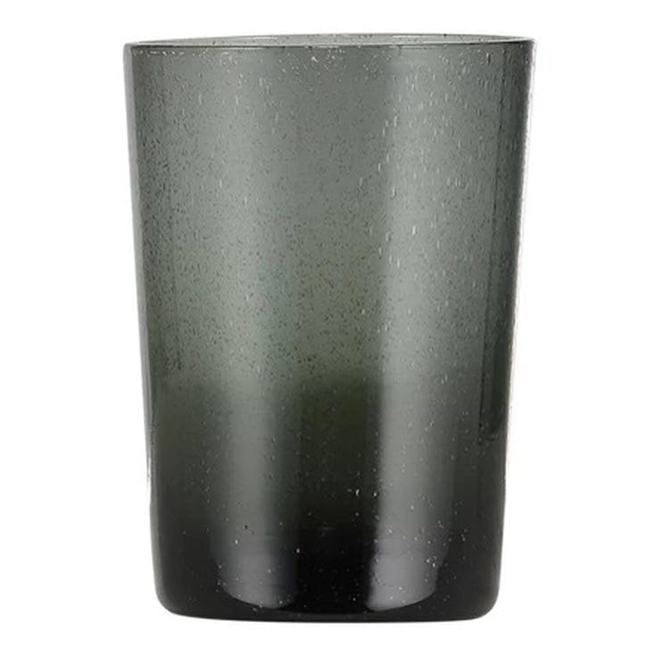 Charcoal Grey Glass Tumblers, Set of 6