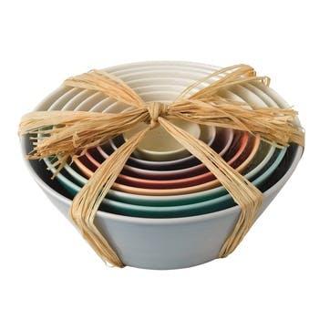 1815 Brights Nesting Bowls, Set of 8