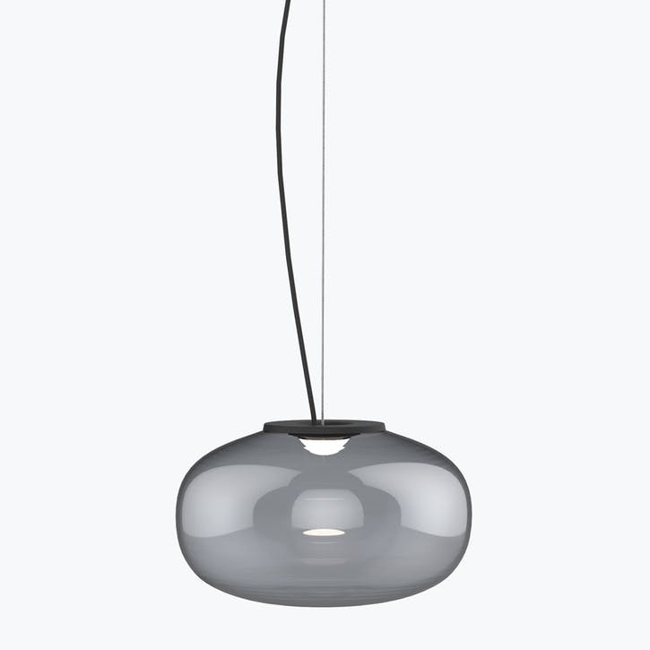Karl-Johan, Pendant, D23cm, Smoked Glass