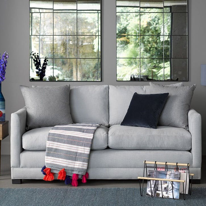 Aissa Sofa, Two and a Half Seat, Moon Smart Cotton