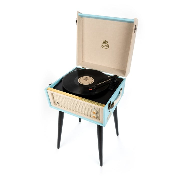 Bermuda Turntable; Blue & Cream
