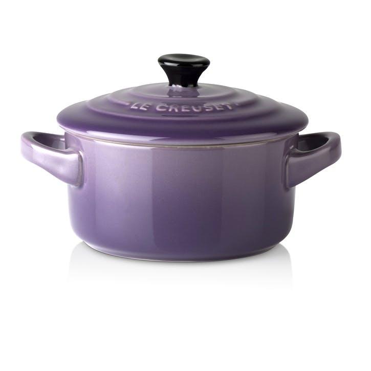 Stoneware Petite Round Casserole; Ultra Violet