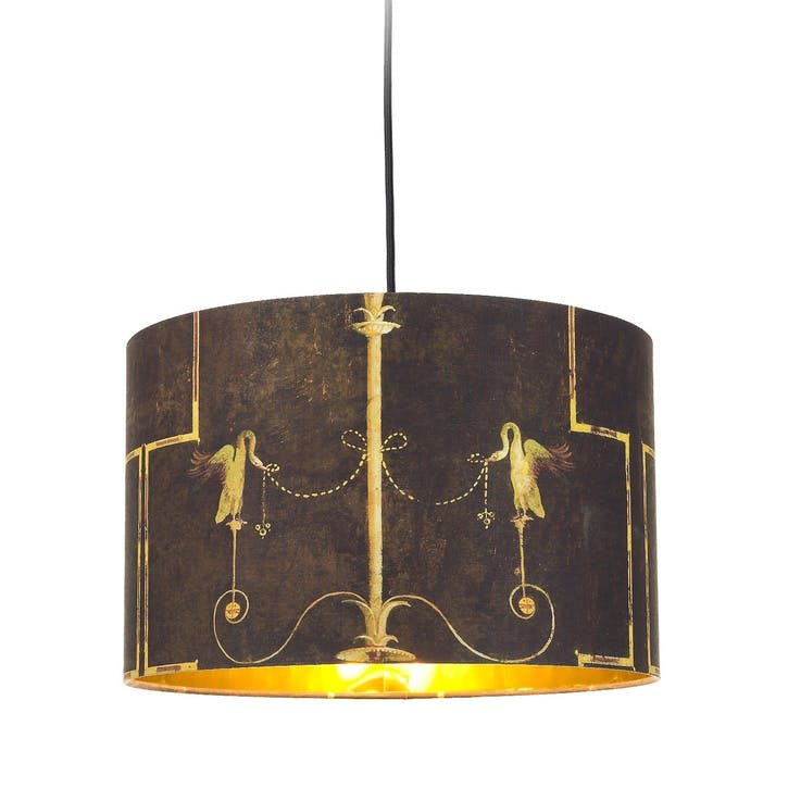 The Swan Drum Pendant Lamp, Anthracite