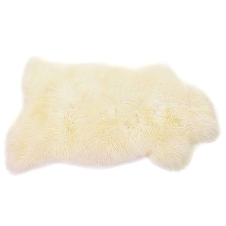 Baa Stool Sheepskin Rug, Ivory