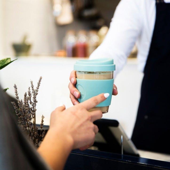 12oz Coffee Cup; Cool Cyan