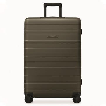 H7 Essential, Large Check-In Trolley, W52 X H77 X D28cm, Dark Olive