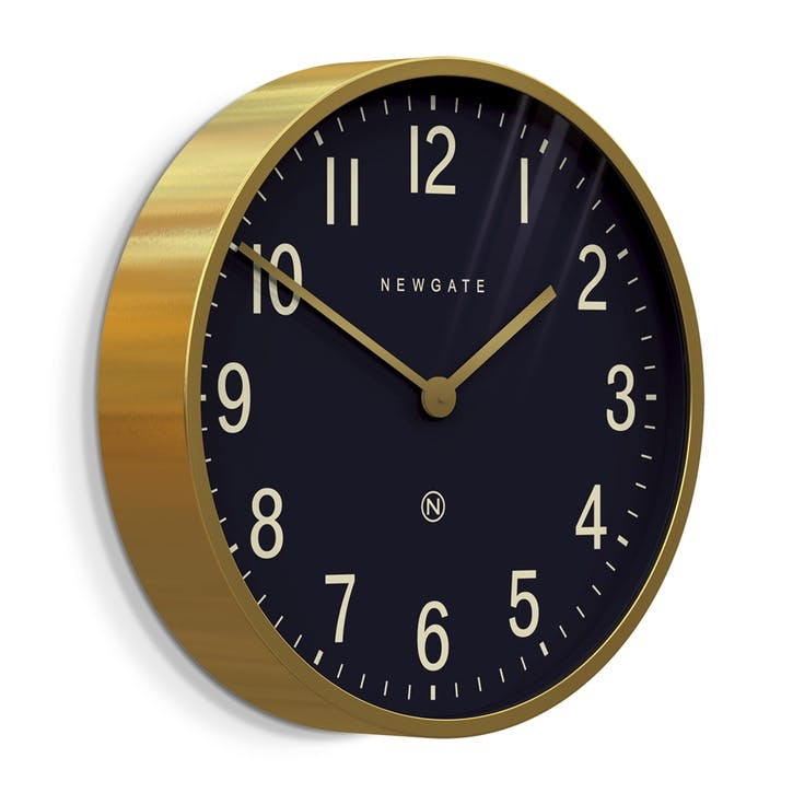 Mr Edwards Wall Clock, D45cm, Radial Brass