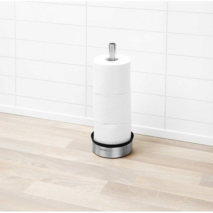 Toilet Roll Dispenser, Matt Steel