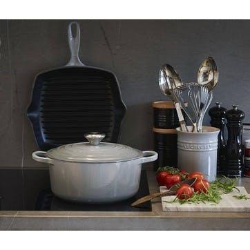 Stoneware Rectangular Dish - 26cm; Flint