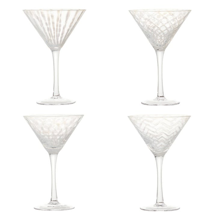 Pulcinella Cocktail Glasses, Set of 4, Multi