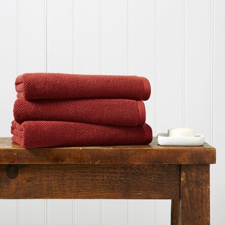 Brixton Bath Sheet, Cinnabar