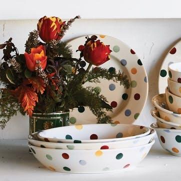 Polka Dot Pasta Bowl, 23cm