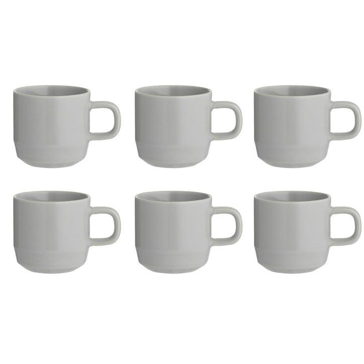 Café Concept Espresso Cup, Grey, Set of 6
