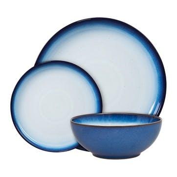 Blue Haze Coupe Dinnerware Set, 12 Piece