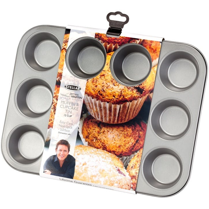 James Martin Bakers Dozen Muffin/Cupcake Tin, 12 Cup
