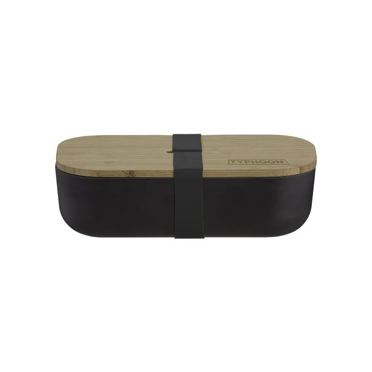 Pure Bamboo Fibre Lunch Box, Black