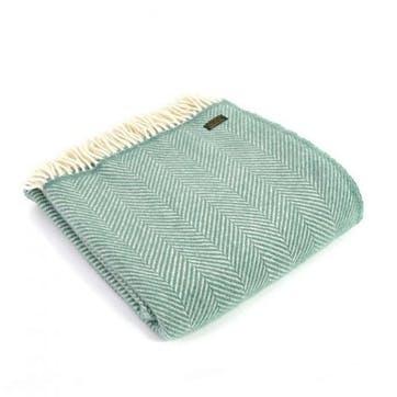 Fishbone Throw; Sea Green