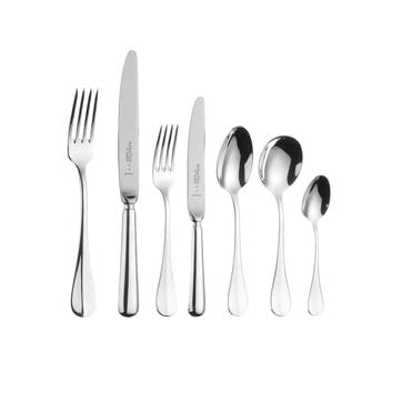Baguette Sovereign Silver Plated Cutlery Canteen Set - 58 Piece