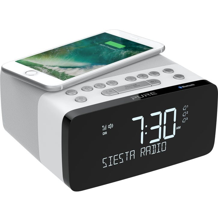 Siesta Charge DAB Alarm Clock Radio, Polar
