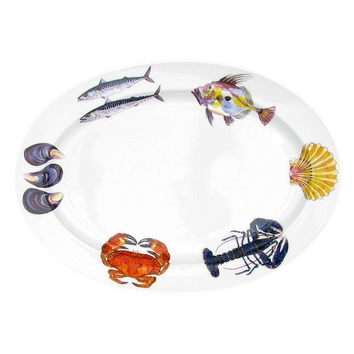 Fish & Shellfish Oval Plate - 39cm