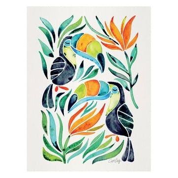 Cat Coquillette Tropical Toucans Canvas, 30 x 40cm