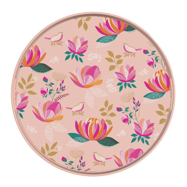 Peony Collection Melamine Round Tray