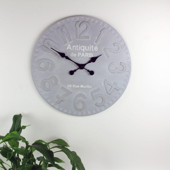 Minimalist Wall Clock; Stone Grey