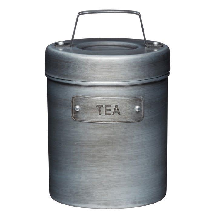 Industrial Kitchen Vintage-Style Metal Tea Caddy