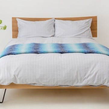 Herringbone Grey Standard Pillowcase
