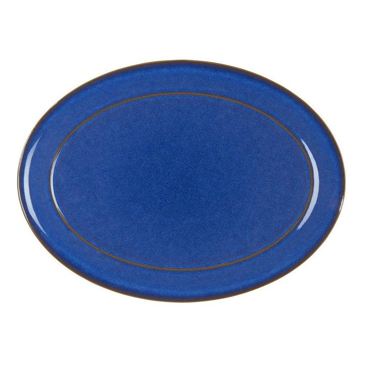 Imperial Blue Oval Platter, 37cm