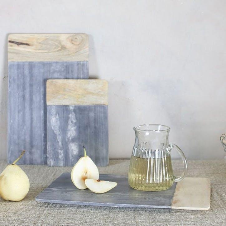 Bwari Long Marble Board - Large; Grey