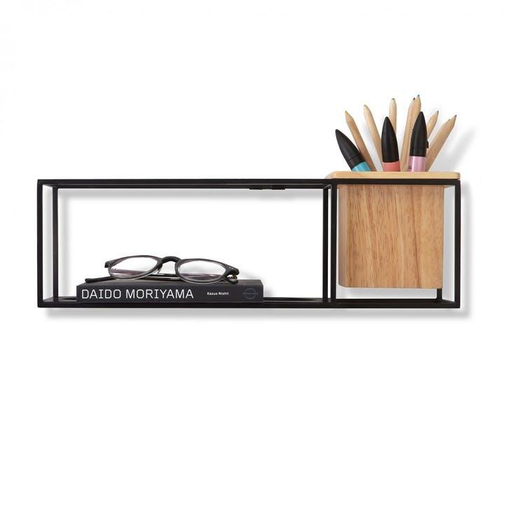 Cubist Shelf, Small, Black