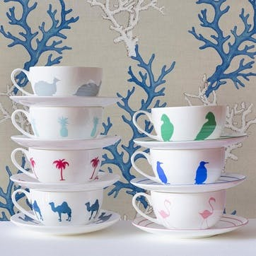 Palm Tree Breakfast Cup & Saucer