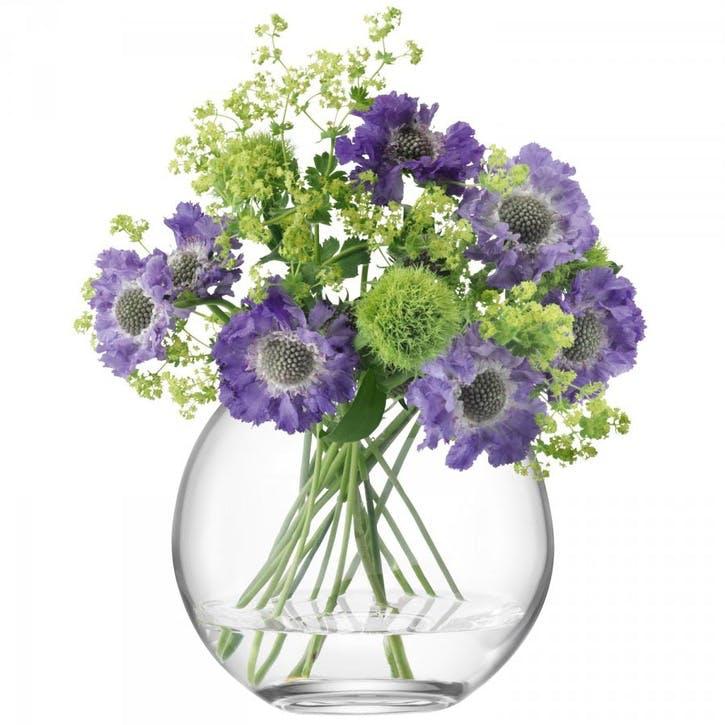 LSA Globe Vase 16cm, Clear