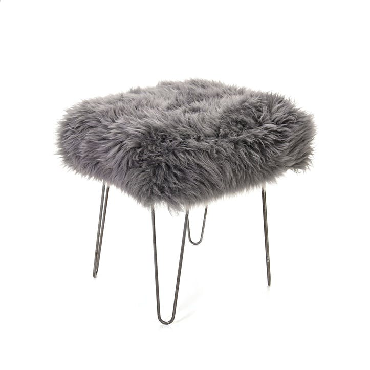 Baa Stool Ffion, 50cm x 40cm x 45cm, Slate Grey