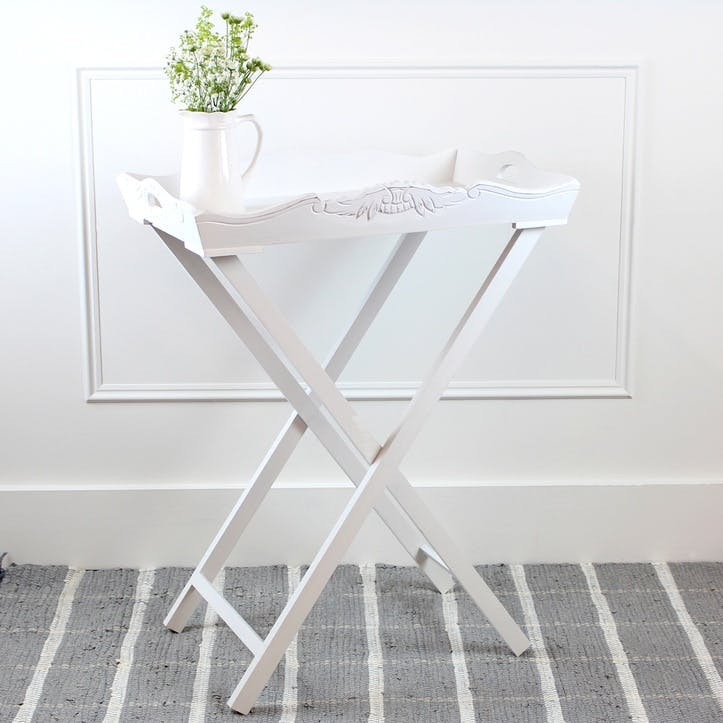 White Painted Tray Table