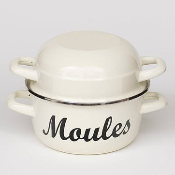 'Moules' Mussel Pot, Cream