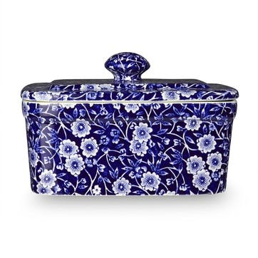 Calico Butter Dish, 400g, Blue