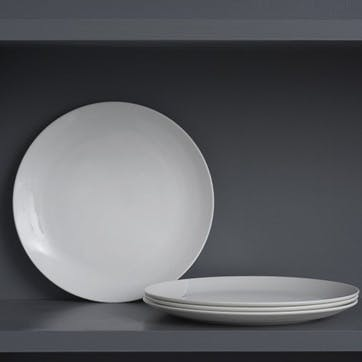 Perfect White Dinner Plate, Set of 4