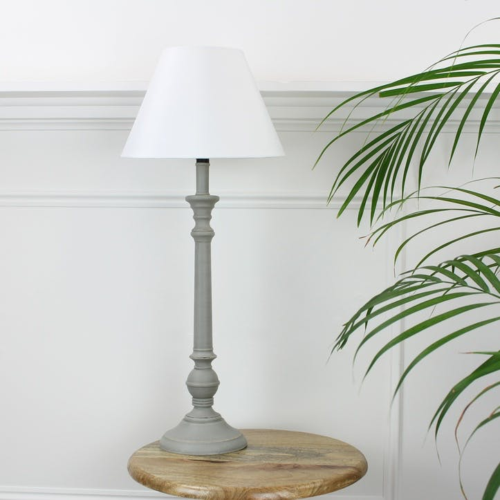 Homeware Shaped Lamp with Cream Shade