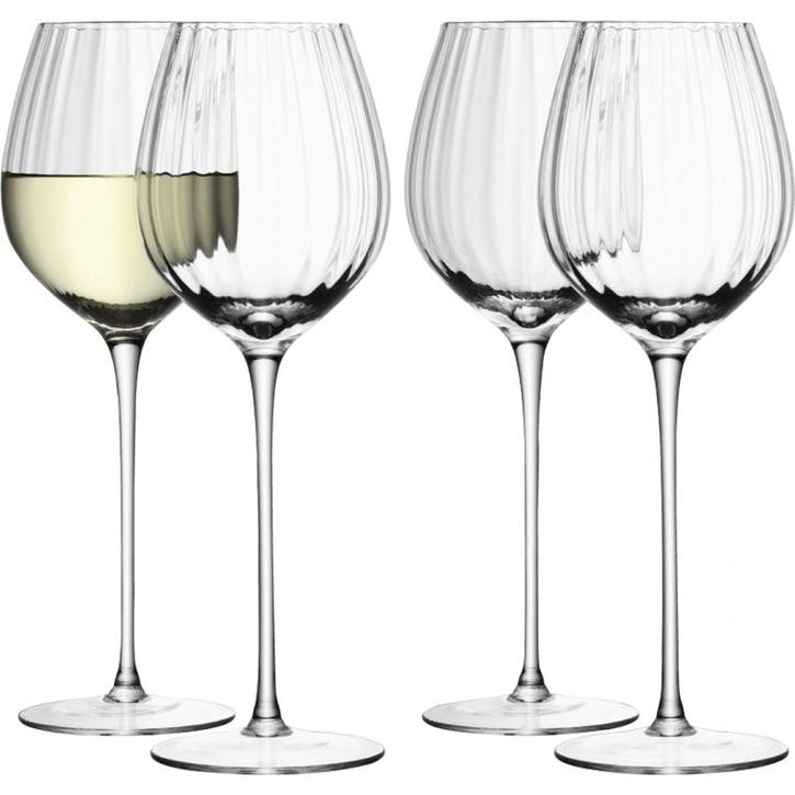 LSA Aurelia White Wine Glass 430ml, Set of 4
