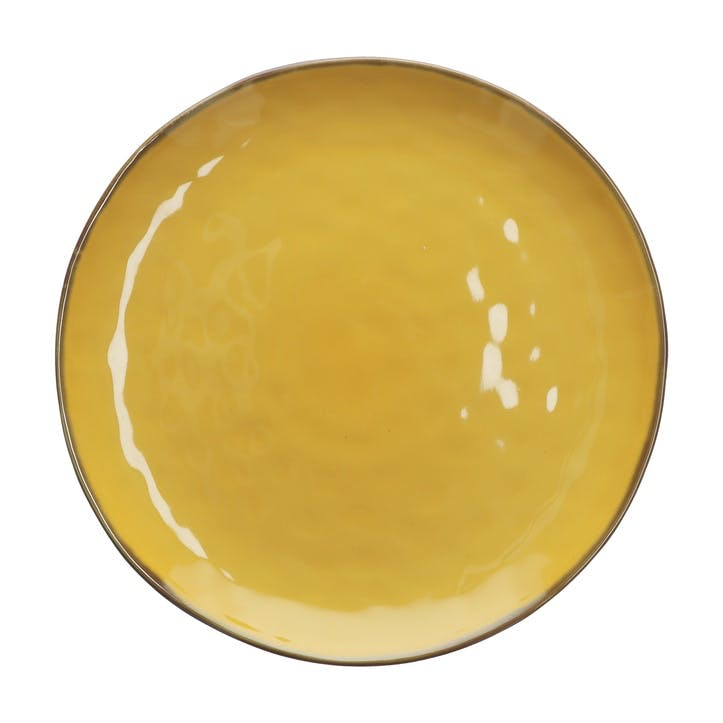 Concerto Round Serving Platter, Yellow