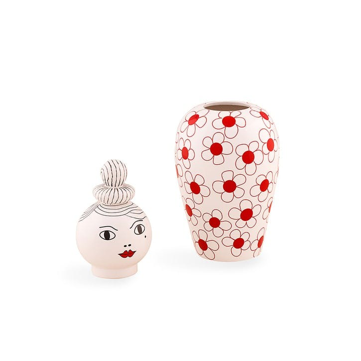 Canopie, Vase with Lid, Red