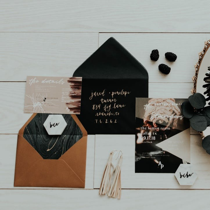 I promise to design your wedding stationery