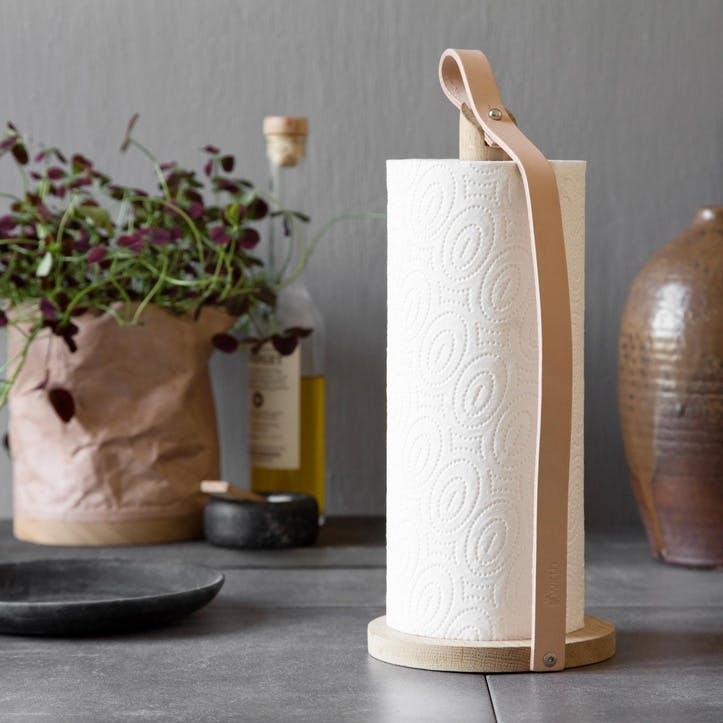 Hands On Kitchen Roll Holder, Natural Oak