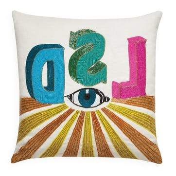 LSD, Beaded Pillow, H51 x W51cm