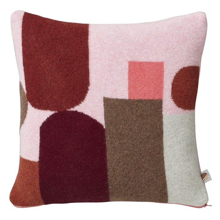 Hue Square Cushion, 42cm, Pink