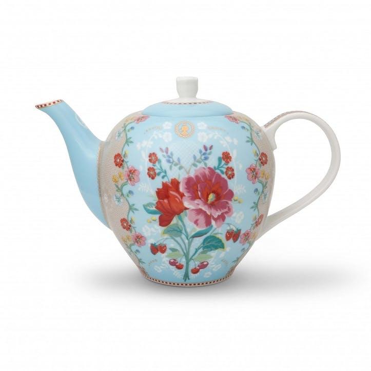 PiP Floral 2.0 Rose Teapot, Blue