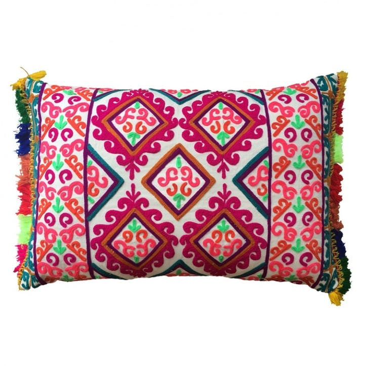 Fiesta Embroidered Cushion